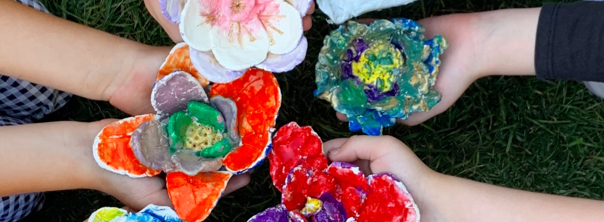 air dry clay flowers